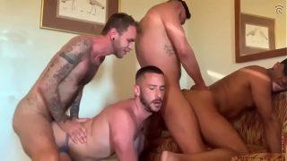 Owen Powers, Seth Knight, Cris Knight, Ryan Powers, Dave Austin – Five Man GangBang!!!! (Bareback)