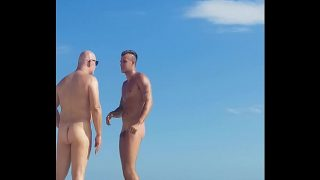 Dancer gay boy at nude beach