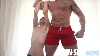 FunSizeBoys – Little guy fucked bareback by tall muscle daddy trainer