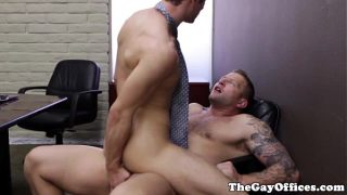 Gay office jock getting ass slammed