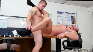Straight lads pissing video gay First day at work